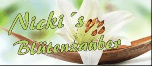 Logo Nickis Blütenzauber - Floristik und Blumen in Garching a.d. Alz - Nicole Kemeder Floristin für Hochzeit, Trauer und Event