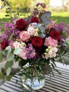 Blumenstrauß mit Rosen und Euckalyptus perfekt für Muttertag