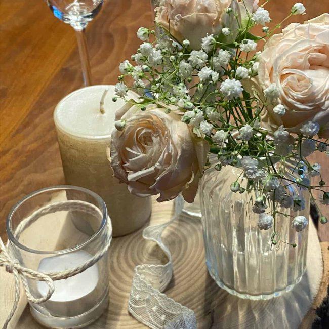 zarte Verführung - ein Traum in pastell für den Brauttisch
