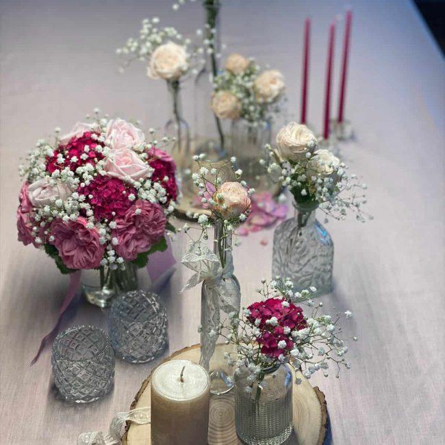 edel und romantisch - die Tischdekoration für Hochzeiten