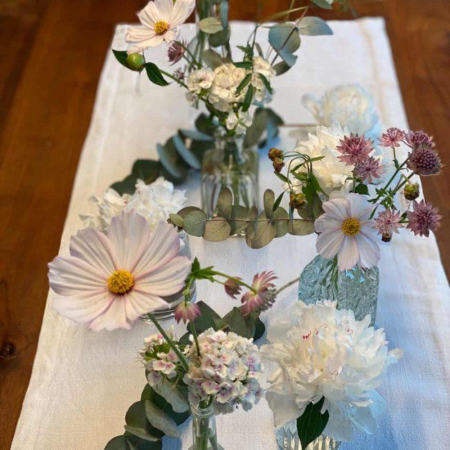Cosmee für den Tisch - Hochzeitsdeko